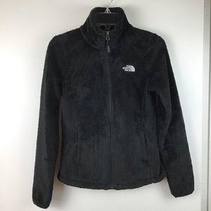 NORTH FACE Black Fuzzy Fleece Osito 2 Jacket XS